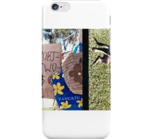 Diptych: Vanuatu Market/Scratching the Dog iPhone Case/Skin