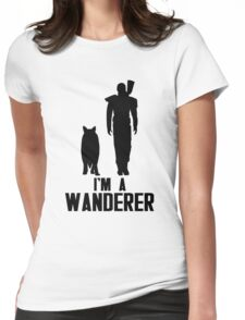 I'm A Wanderer (Black) Womens Fitted T-Shirt