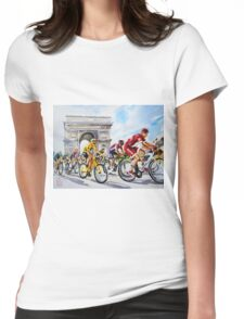 Froome in Yellow TDf 2016 Stage 21 Womens Fitted T-Shirt