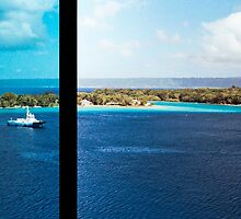 Diptych: Tug Boat/Vanuatu Harbour by wellfinished