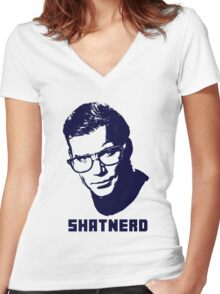 SHATNERD Women's Fitted V-Neck T-Shirt