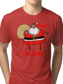 Holiday - I am Santa Tri-blend T-Shirt