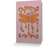 Dragonfly in Pink Greeting Card