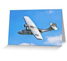 """Canadian Vickers Canso A 11005 G-PBYA """"Miss Pick Up"""" Greeting Card"""