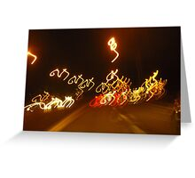 M's Bicycling Greeting Card