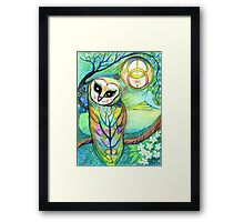Celtic Owl Original Illustration Sheridon Rayment Framed Print