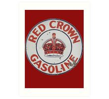Red Crown Gasoline Art Print