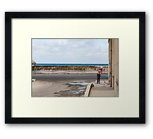 Cleaning Lady Framed Print