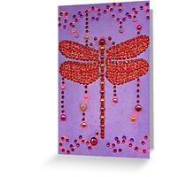 Dragonfly in Purple Greeting Card