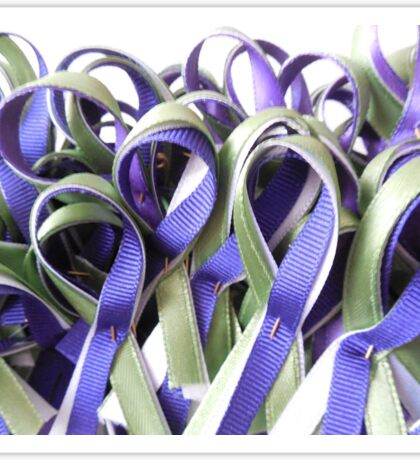 Suffragette-inspired ribbons Sticker