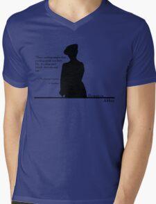 Avoiding People Mens V-Neck T-Shirt