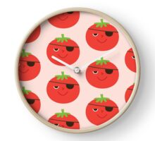 PIRATE TOMATOES Clock