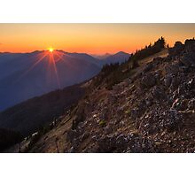 Sunset on Olympic National Park from Hurricane Hill Photographic Print