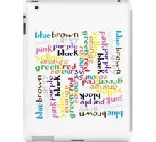 English colour words IV iPad Case/Skin