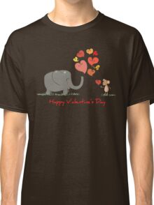 Elephant and Mouse Story of Love Valentine 2017 T-Shirt Classic T-Shirt