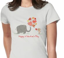 Elephant and Mouse Story of Love T-Shirt Womens Fitted T-Shirt