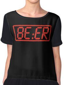 Beer O'Clock Chiffon Top