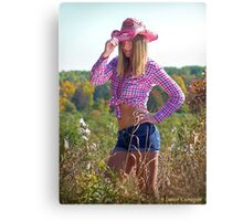 Country Girl in The Fall Canvas Print