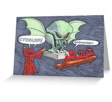 Cthulhu Sneeze Faux Pas Greeting Card