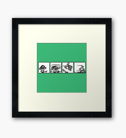 skateboard fun comics cartoon draw Framed Print