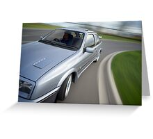 Ford Sierra RS Cosworth rig shot front Greeting Card