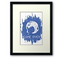 It's Game Over Mega Man, Game Over! Framed Print