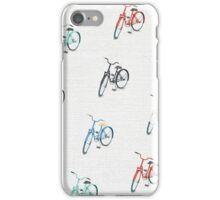 Vintage Colorful Bicycle Pattern iPhone Case/Skin