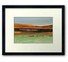 SUNRISE RAILWAY Framed Print