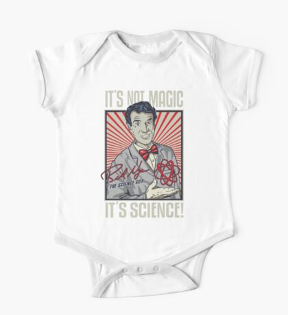 Official Bill Nye - It's Science Shirt One Piece - Short Sleeve