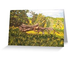 Log and Barbed Wire Greeting Card