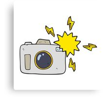 cartoon flashing camera Canvas Print