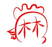 Year of Rooster surname Lin Photographic Print