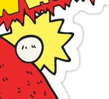 cartoon table tennis bat Sticker