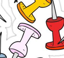 cartoon office tacks Sticker