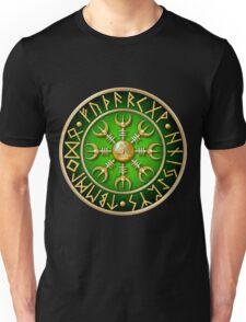 Norse Aegishjalmur Runes - Green Unisex T-Shirt
