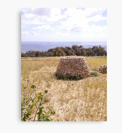 Maltese Stone Hut Canvas Print