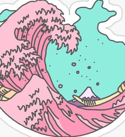 Pastel Waves Sticker