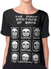 The Many Emotions Of Sans - Undertale Chiffon Top
