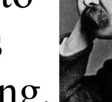 Plato Is Boring - Nietzsche Sticker