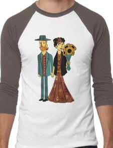 Love is Art Frida Kahlo and Van Gogh Men's Baseball ¾ T-Shirt