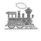 Steam train graphic full steam ahead by Sarah Trett