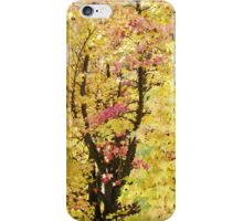 Autumn Forest Art prints Yellow Fall Leaves iPhone Case/Skin