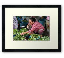 Saturday Morning Market Framed Print