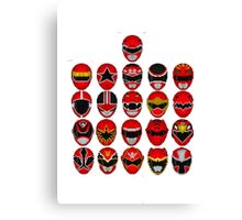 Power Rangers - Red Legacy Canvas Print