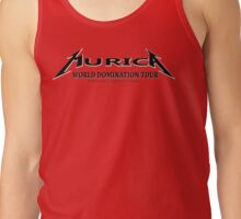 We think we are superiour (Murica World Domination Tour Logo b/w ) Tank Top