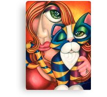 Love Me Love My Cat Canvas Print