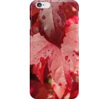 RED Autumn Leaves Art Prints Fall Trees iPhone Case/Skin