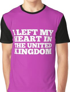 I Left My Heart In The United Kingdom Love Native T-Shirt Graphic T-Shirt
