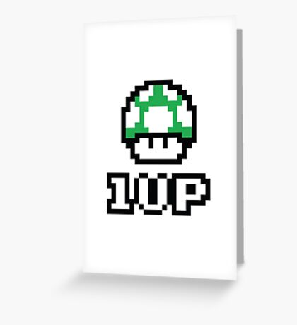 1 UP - Super Mario Bros. Greeting Card