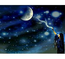 Trying To Touch The Moon With Her Love Photographic Print